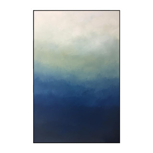 """Abstract Blue Ombre"" Framed Giclée - Image 1 of 3"