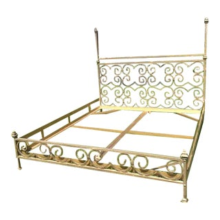 Vintage Kreiss Iron Bed Frame For Sale