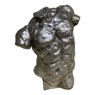 Vintage Mac Sculpture Silver Leaf Torso For Sale