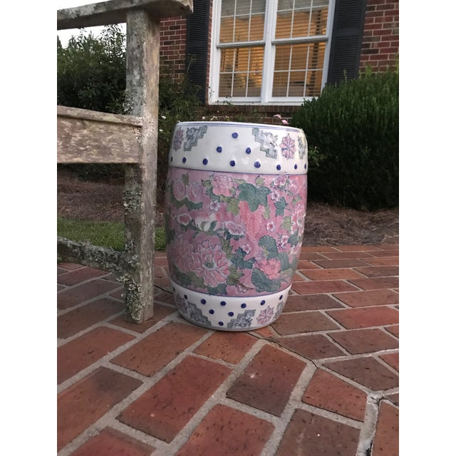 Feminine and floral! This garden stool is a beauty! It has the best colors and designs. It measures 11 inches across the...