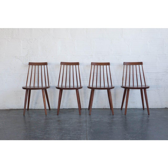 Yngve Ekström Swedish Spindleback Teak Dining Chairs - Set of 4 For Sale - Image 10 of 10