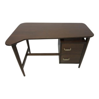 Smaller Walnut Desk by Merton Gershun for American of Martinsville For Sale