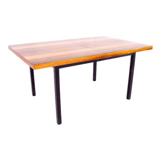 Milo Baughman for Directional Mid Century Multi-Wood Rosewood Walnut and Ash Dining Table With Glossy Finish For Sale