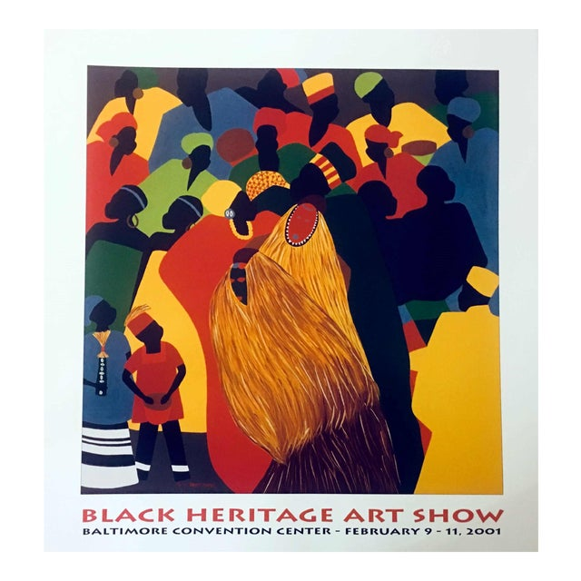 """1996 Black Heritage Art Show """"Celebration"""" Poster by Synthia Saint James For Sale"""