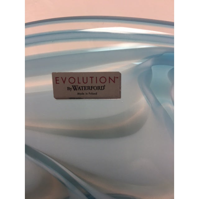 Waterford Evolution Aqua Art Glass Bowl - Image 3 of 8
