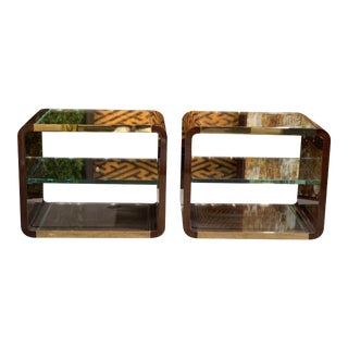 Decca Home Auden Bentwood Side Tables - A Pair For Sale