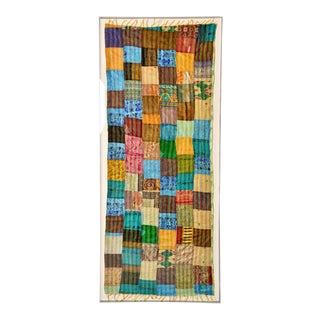 Extra Large Custom Framed Vintage Indian Textile For Sale