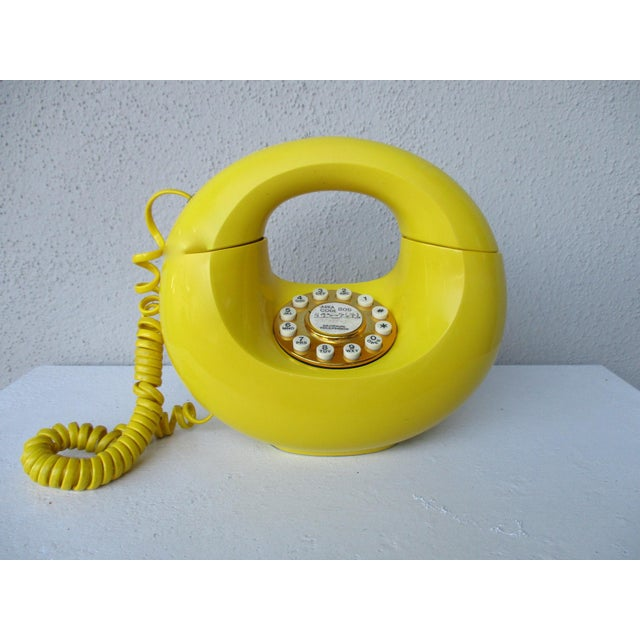 Bright Yellow Sculptura Donut Telephone Phone - Image 2 of 11