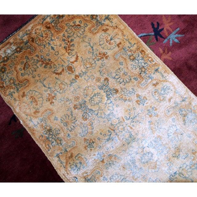 Tan 1920s, Handmade Antique Persian Kerman Rug 2.10' X 5.3' - 1b703 For Sale - Image 8 of 10