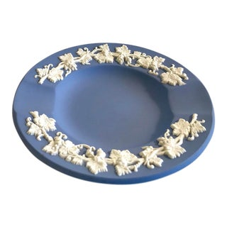 Vintage Wedgwood Blue Fine China Ashtray For Sale