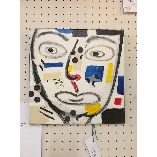 "Phyllis Rinaldi ""II Primary Man"" Original Painting on Canvas - Image 2 of 6"