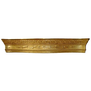 A Large Antique Giltwood Valance From Sicily, Circa 1830 For Sale