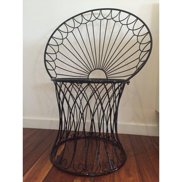 Vintage BoHo Metal Peacock Chair - Image 2 of 6