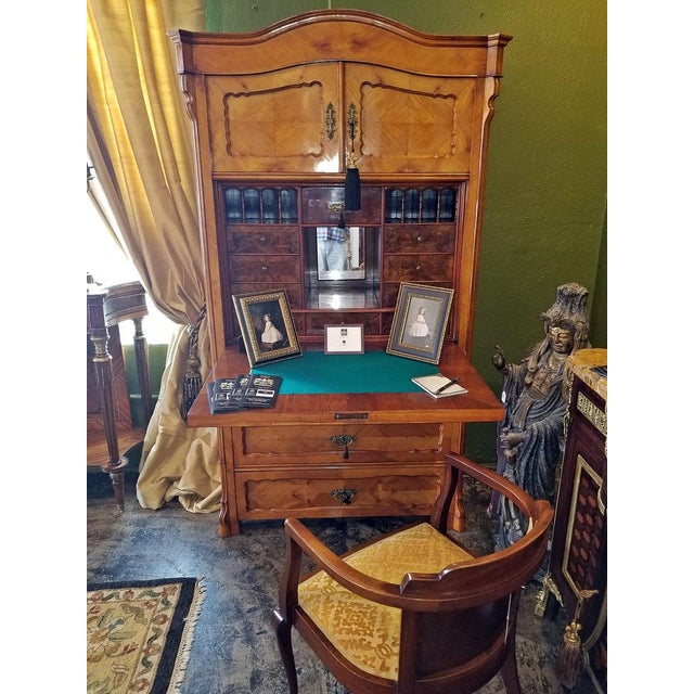 19c French Louis Philippe Yew Wood Secretaire with Secret Drawers For Sale - Image 9 of 10