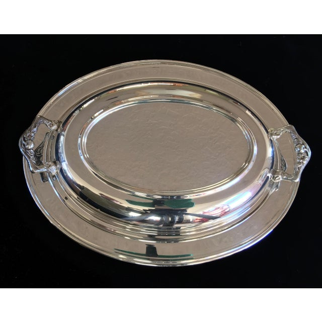 Vintage Silver Plated Divided Serving Dish - 3 Pieces - Image 2 of 5