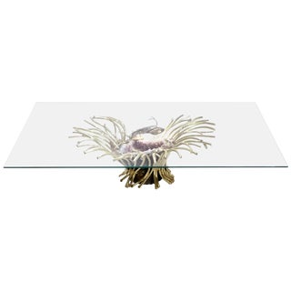 Signed Isabelle Faure Sculpture-Table Amethyst, 1970s For Sale