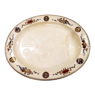 1877 Wedgwood Earthenware Well and Tree Platter For Sale