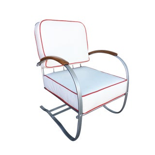 Wolfgang Hoffmann Chrome Springer Lounge Chair for Howell For Sale
