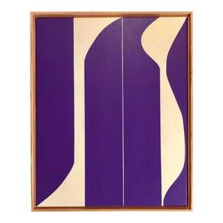 Purple Modern Abstract Painting by Tony Curry For Sale