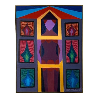 "26x20"" Freda Kroll Original Oil Painting 1981 For Sale"