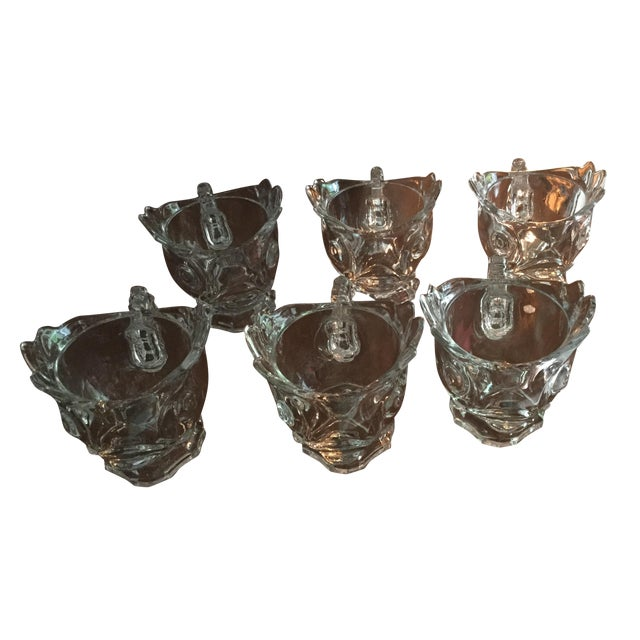 1930s Fostoria Shrimp Cocktail Glasses - Set of 5 For Sale
