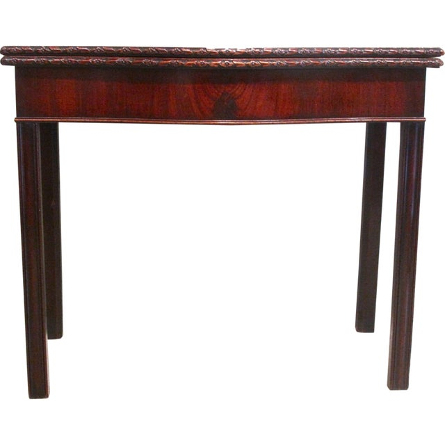 18th Century George III Mahogany Serpentine Front Game Table - Image 2 of 10