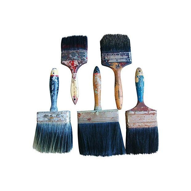 Vintage House Painter Brush Collection - Set of 5 - Image 2 of 2