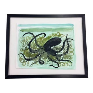 Octopus Watercolor For Sale