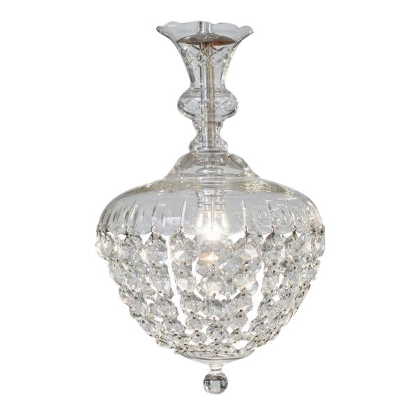 Antique Crystal Baccarat Chandelier For Sale