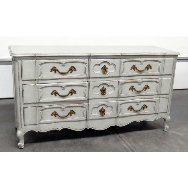 20th Century French Country Painted Decorated Dresser For Sale - Image 10 of 10