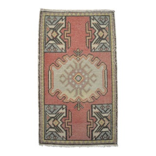 Turkish Yastik Rug Hand Knotted Mat - 1'9'' X 3' For Sale