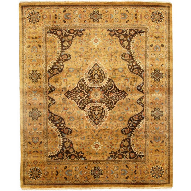 "Pasargad N Y Fine Serapi Design Hand-Knotted Rug - 7'10"" X 9'6"" For Sale In Washington DC - Image 6 of 6"