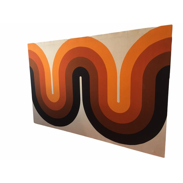 Mid-Century Modern Mid-Century Stretched Canvas Screen-Print by Verner Panton For Sale - Image 3 of 8