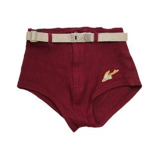 Vintage Wylie Men's/Boy's Maroon Swim Trunks For Sale