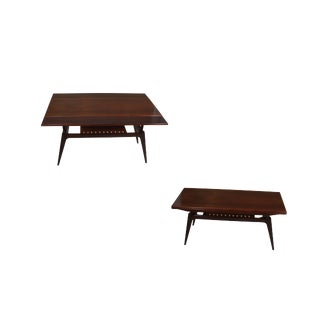 Rosewood Metamorphic Dining / Coffee Table For Sale