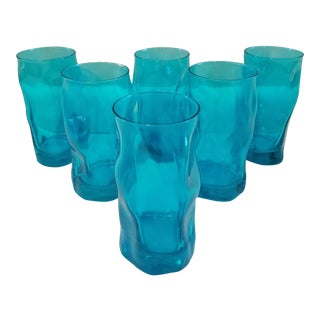 Turquoise Modern Glasses - Set of 6