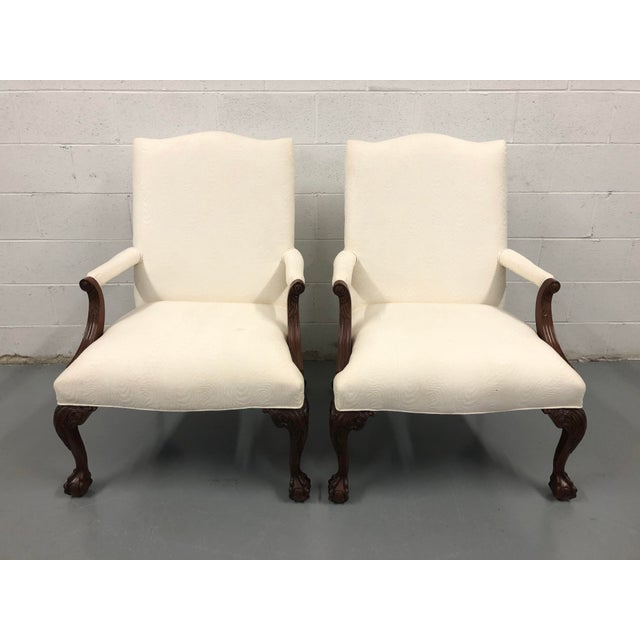 Ball & Claw Mahogany Library Chairs by Councill - a Pair For Sale - Image 12 of 12