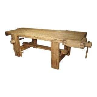 Large Antique Tuscan Work Bench, Circa 1865 For Sale