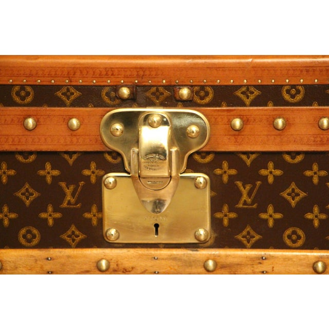 1930s Louis Vuitton Cabin Steamer Trunk For Sale - Image 6 of 13