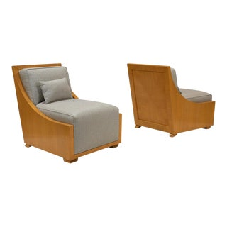 Pair of Modern Decorative Lounge Chairs For Sale