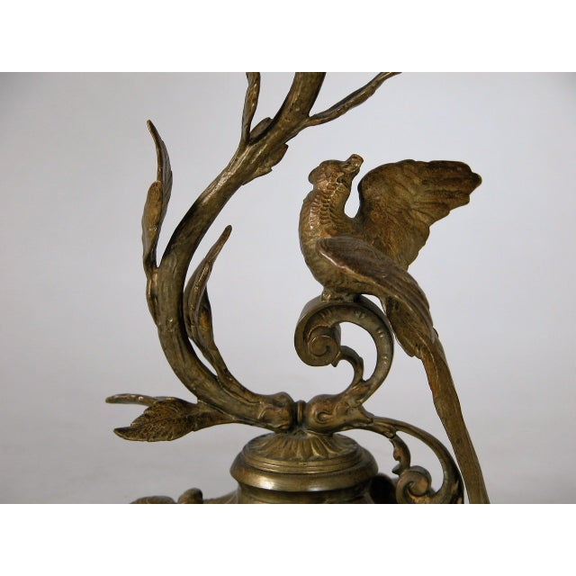 19th Century French Bronze & Glass Epergne - Image 5 of 8