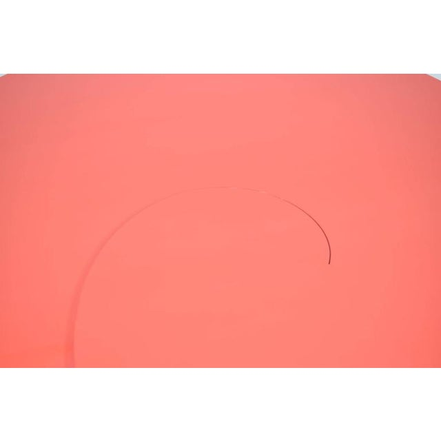 Fabulous Statement Coffee Table in Red/Orange Lacquer For Sale - Image 4 of 9