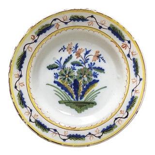 Colorful Dutch Delft Plate #3 For Sale