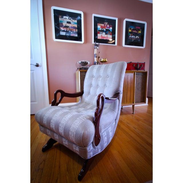 Incredible Antique 1930S Swan Arm Gooseneck Rocking Chair Ibusinesslaw Wood Chair Design Ideas Ibusinesslaworg