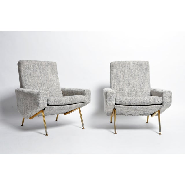 French Airborne Edition Armchairs by Pierre Guariche - a Pair For Sale - Image 13 of 13