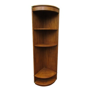 20th Century Campaign Drexel Corner Cabinet or Shelving Unit For Sale