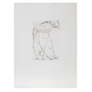 Salvador Dali - Space Elephant Etching