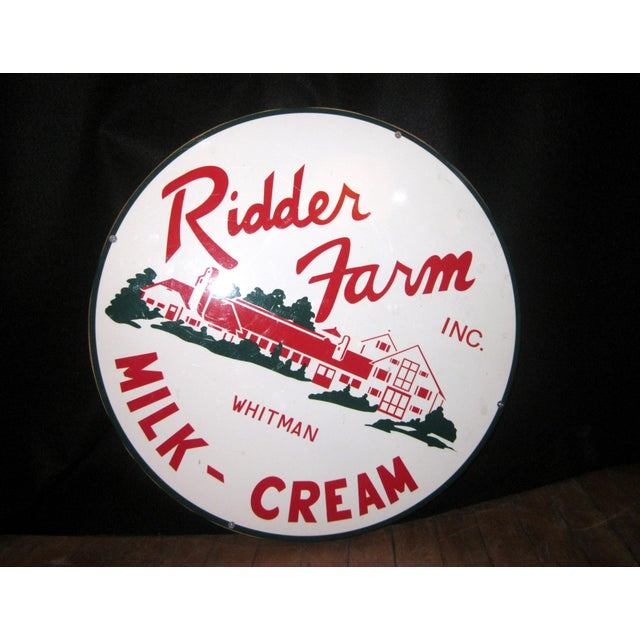 Vintage Style Porcelain Dairy Farm Advertisement Sign For Sale - Image 9 of 9