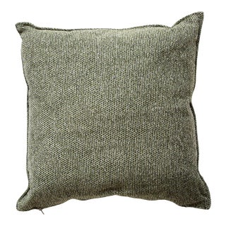 Cane-Line Wove Scatter Cushion, Square, Dark Green For Sale