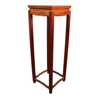 Chinese Rosewood Pedestal Plant Stand For Sale